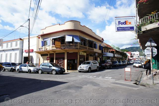 Street corner with FedEx Express Courier in Roseau Dominica.jpg